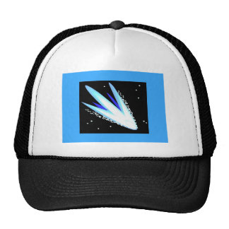Asteroid In Cerulean Blue Mesh Hat