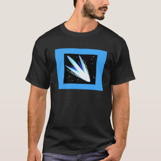 Asteroid In Cerulean Blue T-Shirt