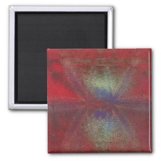 Asteroid Strike Digital Abstract 2 Inch Square Magnet