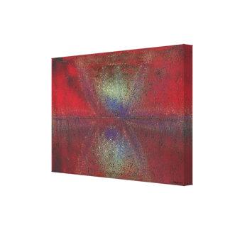 Asteroid Strike Digital Abstract Canvas Print