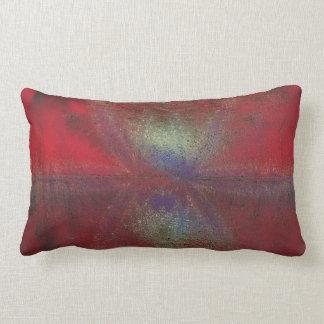 Asteroid Strike Digital Abstract Lumbar Pillow