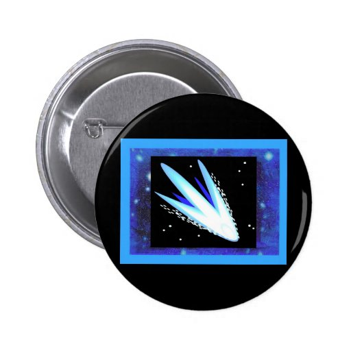 Asteroid With Layered Midnight Blue Stars 2 Inch Round Button