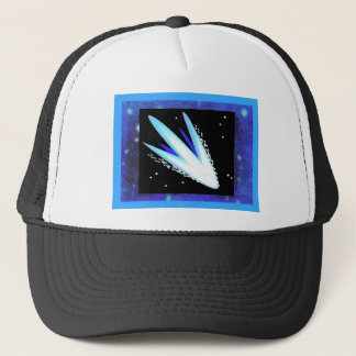 Asteroid With Layered Midnight Blue Stars Trucker Hat