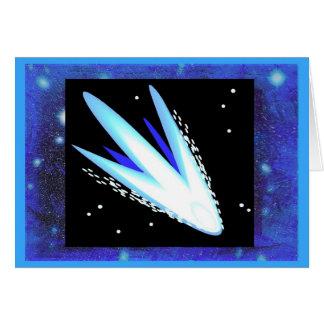 Asteroide con las estrellas azules de medianoche a tarjeta de felicitación