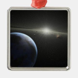 asteroide de ssc2005-10c_mac adorno navideño cuadrado de metal