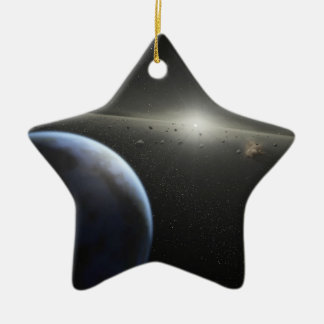 asteroide de ssc2005-10c_mac adorno navideño de cerámica en forma de estrella