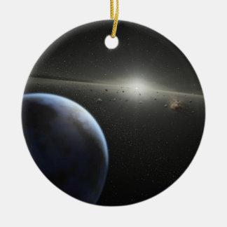asteroide de ssc2005-10c_mac adorno navideño redondo de cerámica