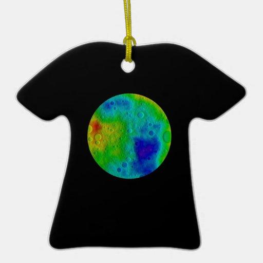 Asteroide de Vesta/simulación de Protoplanet Adorno Navideño De Cerámica En Forma De Playera