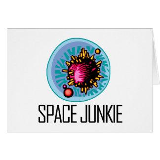 Asteroide del drogadicto del espacio tarjeta de felicitación