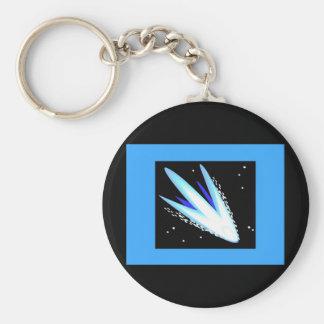 Asteroide en azul cerúleo llavero redondo tipo pin