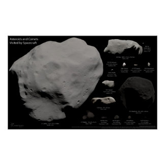 Asteroides y cometas visitados por la nave espacia impresiones