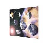 Asteroides y estrella roja por Saturn (digital Impresiones En Lona Estiradas