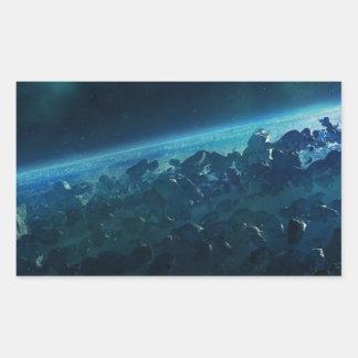 Asteroids Rectangular Sticker