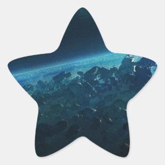Asteroids Star Sticker