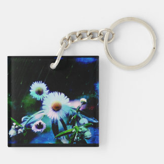 Asters Aglow Key Chain