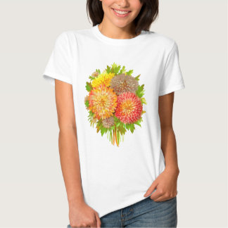 Asters Floral Retro Vintage Composition Tee Shirt