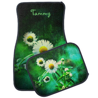 Asters Green Glow Car Mats *Personalized*