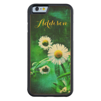 Asters in Green on Wood iPhone 6 case Carved® Maple iPhone 6 Bumper Case