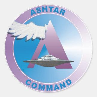 Asthar Comand Classic Round Sticker