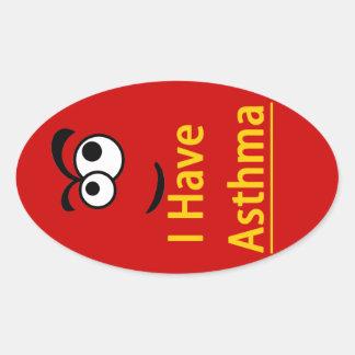 Asthma alert children's sticker