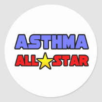 Asthma All Star Classic Round Sticker