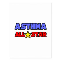 Asthma All Star Postcard