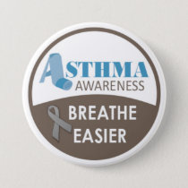 "Asthma Awareness 3"" Large Badge Button"