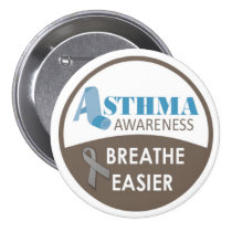 """Asthma Awareness 3"""" Large Badge Button"""