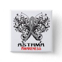 Asthma Awareness Butterfly Button