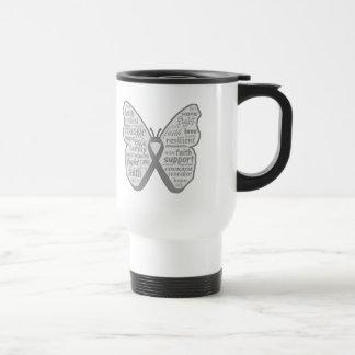 Asthma Awareness Butterfly Ribbon Mugs