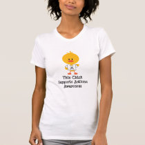 Asthma Awareness Chick Distressed Tshirt
