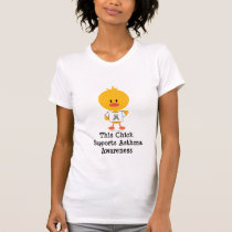 Asthma Awareness Chick T shirt