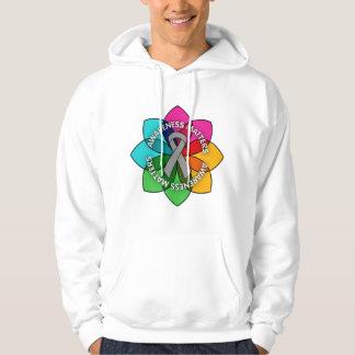 Asthma Awareness Matters Petals Hooded Sweatshirts