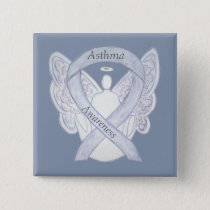 Asthma Awareness Ribbon Angel Customized Art Pin