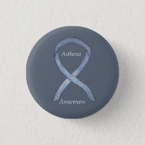 Asthma Awareness Ribbon Customized Button Pins
