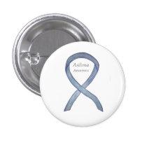 Asthma Awareness Ribbon Customized Button Pins