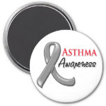 Asthma Awareness Ribbon Fridge Magnets