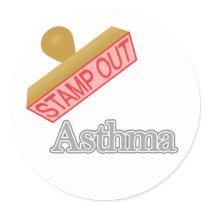 Asthma Classic Round Sticker