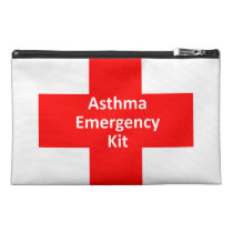 Asthma Emergency Kit Travel Accessory Bag