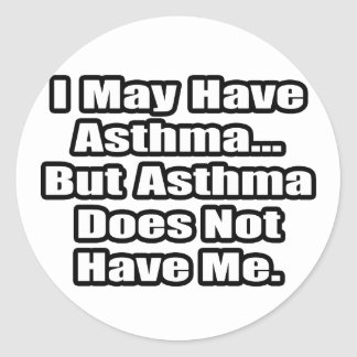 Asthma Fighter Quote Sticker