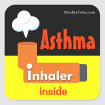 Asthma inhaler sticker