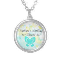 Asthma is Nothing to Wheeze Butterfly Necklace