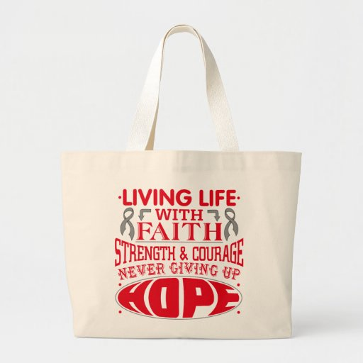 Asthma  Living Life with Faith Canvas Bag