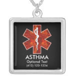Asthma Medical   Necklace: Customizable