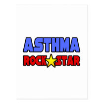 Asthma Rock Star Postcard