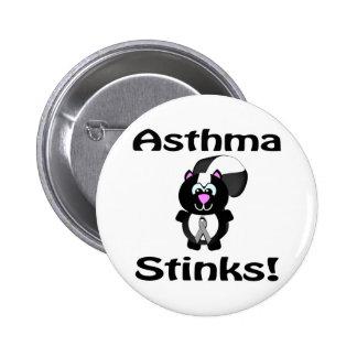 Asthma Stinks Skunk Awareness Design Pins
