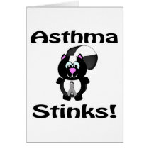 Asthma Stinks Skunk Awareness Design Card