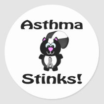 Asthma Stinks Skunk Awareness Design Classic Round Sticker