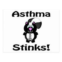 Asthma Stinks Skunk Awareness Design Postcard