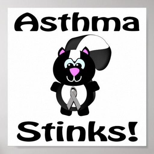 Asthma Stinks Skunk Awareness Design Print